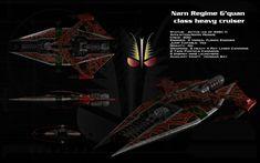 Narn G'Quan class heavy cruiser ortho by unusualsuspex on DeviantArt
