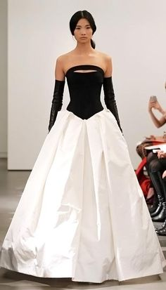 Vera Wang Spring 2014 Wedding Dresses: Strapless gown with hand draped silk skirt