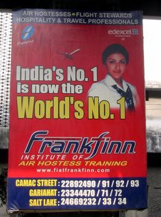 Frankfinn billboard seen in Kolkata, India     A Free Blog on on how to get the training that can help you earn extra income.