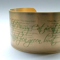 One of my favorite childhood poems, translated to wearable form by JezebelCharms on Etsy.  Love!