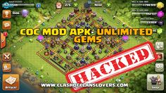 Free Unlimited Gems, Coins , Elixir , every thing Unlimited on Clash of Clans Mod APK and Coc Private server apk #HACKED #COCMOD #COCLOVERS #UNLIMITEDGEMS