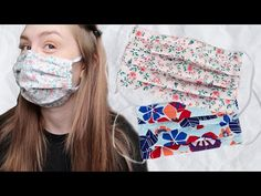 How to sew a washable and reusable face mask for quarantine with filter pocket and bendable nose Sewing Hacks, Sewing Crafts, Sewing Projects, Diy Crafts, Sewing Tips, Diy Projects, Diy Mask, Diy Face Mask, Making Faces