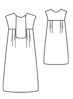 Hello, Hello, Today, I present to you a model of dress / blouse which does not … Sewing Patterns Free, Clothing Patterns, Dress Patterns, Sewing Hacks, Sewing Tutorials, Couture Sewing, Blouse Dress, Mode Inspiration, Day Dresses