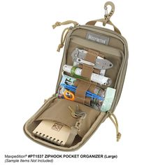) Maxpedition's Ziphook Pocket Organizer in Large.Maxpedition's Ziphook Pocket Organizer in Large. Accessoires Molle, Molle Backpack, Tactical Backpack, Edc Bag, Assault Pack, Edc Tactical, Police Gear, Tac Gear, Edc Everyday Carry