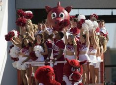 I was always in the dance and pom squad at school - at Eisenhower, Guilford and Cherry Creek