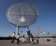 The Big Nickel, in Sudbury, Ontario.