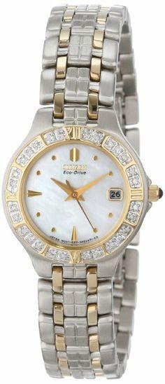 Citizen Women's EW0694-56D Eco-Drive Lucca Diamond Accented Watch: Watches: Amazon.com