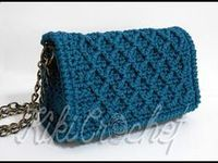 Crochet Diamond Stitch Purse (pt This is the first part for our diamond stitch purse! Crochet Wallet, Crochet Clutch, Crochet Handbags, Crochet Purses, Crochet Shell Stitch, Crochet Chart, Knit Crochet, Crochet Patterns, Crotchet Bags