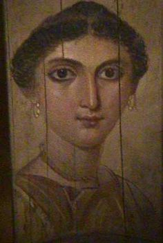 Egyptian Roman period mummy portrait of a young woman
