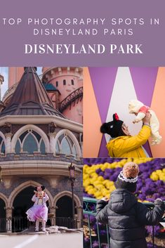 There are soooo many spots in the Disneyland Park for photos but I will hold my hands up and say i've not found them all yet. I get sucke. Pink And Blue Dress, Florida Blue, Disney Cast, Disneyland Park, Cinderella Castle, Paris Photography, Paris Photos, Paris Travel, Cute Photos