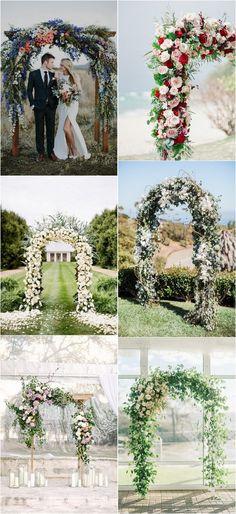 Floral wedding arch decoration ideas #weddingdecor #weddingideas #weddingarches #greenerywedding