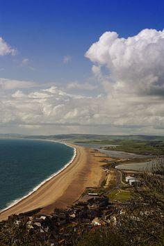 Chesil beach, Dorset, England by Chesil