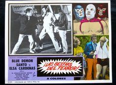 """""""SANTO Y BLUE DEMON CONTRA LAS BESTIAS DEL TERROR"""" N MINT LOBBY CARD PHOTO 1972  in Entertainment Memorabilia, Movie Memorabilia, Lobby Cards, Originals-United States, 1970-79   eBay"""