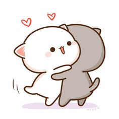 I should speak yesterday! I should speak yesterday! But I slept while writing! Cute Love Pictures, Cute Love Gif, Cute Love Memes, Cute Anime Cat, Cute Cat Gif, Chibi Cat, Cute Chibi, Kawaii Drawings, Cute Drawings