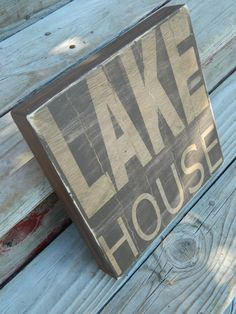 Lake House sign unique wood technique  by CountryFolksCreation, $28.00