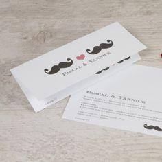 #invitation #amour #wedding #weddinginvitation #trouwkaart #announcement #webshop  #Tadaaz #uitnodiging #moustache #gay