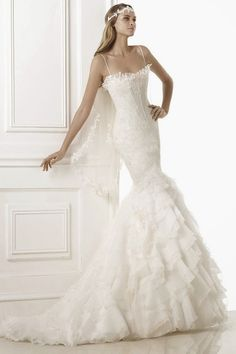 The iconic bridal fashion firm Pronovias has released their 2015 collections and we couldna? Year after year, this Spanish designer house deli Princess Wedding Dresses, Dream Wedding Dresses, Wedding Gowns, Wedding Blog, Wedding Styles, Bridal Dresses 2015, Bridal Gowns, Bridal Lace, Bridal Style