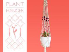 空中に浮かぶ癒やし♪うちの鉢植えを「麻のプラントハンガー」で浮かべちゃお?