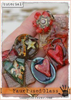 Tammy Tutterow Tutorial: Faux Fused Glass Pendants