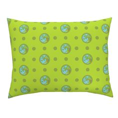 Campine Pillow Sham featuring Pin&Pon Popdragon by joancaronil | Roostery Home Decor