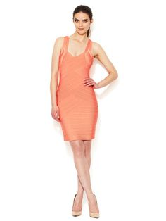 Stretta Christiana Cut-Out Bandage Dress