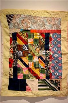African-American vintage quilt from the collection of Corrine Riley, seen at Mingei International Museum