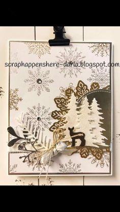 Stampin' Up! Carols of Christmas, Christmas Pines, gold foil