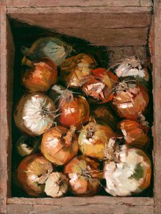 Leslie Duke - Groundwork, oil, 24 x 18. Thought - Life without onions hardly worth living.
