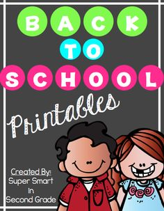 Back to School FUN!  Check out these printables to get your students ready for the beginning of the school year.  Engaging activities to make back to school easy!   $