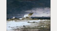 Seascape by Peder Balke, about Photograph: Asbjørn Lunde/National Gallery National Gallery, Nordic Art, Scandinavian Art, Puzzle Art, Water Art, Gravure, Large Art, Art Reproductions, Installation Art