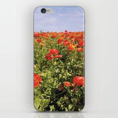 iPhone and iPod skins and cases available on Society6 by Alesha Krehbiel, in an abstract polygon illustration of the Carlsbad Flower Fields. Skins are thin, easy-to-remove, vinyl decals for customizing your device. Skins are made from a patented material that eliminates air bubbles and wrinkles for easy application.