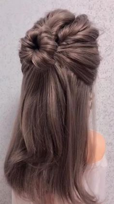 Bun Hairstyles For Long Hair, Fast Hairstyles, Weave Hairstyles, Hairstyles Videos, Hairstyles For Women, Camping Hairstyles, Flower Hairstyles, Braided Ponytail Hairstyles, Dance Hairstyles