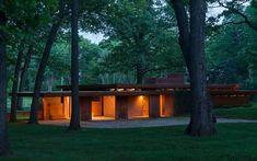 Melvyn Maxwell Smith House.1949-50. Bloomfield Hills, Michigan.  Usonian Style. Frank Lloyd Wright