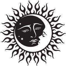 henna pattern sun and moon - Google Search