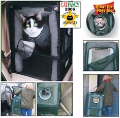 Kitty Car Seat - Cozy Cabin Cat Furniture From Spoil My Kitty - Premium cat furniture: Shop for cat climbers, standard cat furniture, cat trees, kitty condos, cat condos, cat, furniture, trees, cat towers
