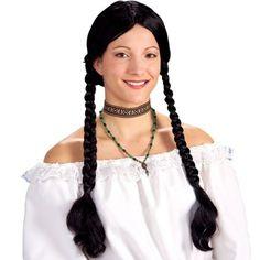 Long black braids wig (for Indian dance?).