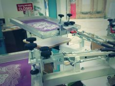 Screen Print Machine @ Weave#blackburn #blackburnisopen #fashion #clothing #screenprint