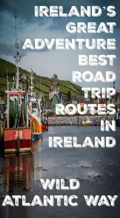 Irelands great adventure best road trip routes in Ireland. Wild Atlantic Way. The drive starts in Kinsale, in the southeastern part of the country and follows the coast all the way to the town on Londonderry, in the northwest. Read the full blog post at http://www.divergenttravelers.com/road-trip-routes-ireland/