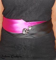 La cravate customisée en ceinture de Kustom Couture