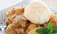 Slow Cooker Peach Crisp , weight watchers recipes , smart points 14