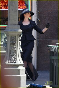 OMG I want this outfit!! Anne Hathaway in The Dark Knight Rises
