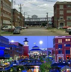 Bricktown, Oklahoma City, OK. Before and after the Metropolitan Area Projects (MAPS)! 1997/98 vs 2003/04