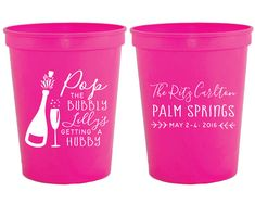 Bachelorette Party Cups Bachelorette Party Favors by SipHipHooray