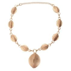 Gold Matte Hammered Shell Necklace  http://www.inspiredsilver.com/ #InspiredSilver #Necklace #Goldjewelry  #Jewelry