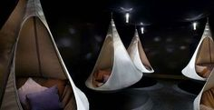 Cacoon is half tent, half hammock. Probably more comfortable than a tent on the ground.
