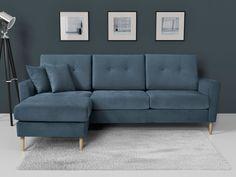 Canapé d'angle en tissu MAXIMILIAN Kaligrafik
