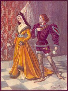 suknia burgundzka