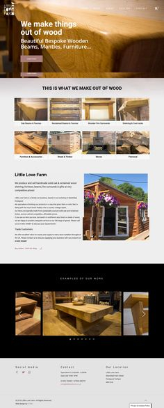 Little Love Farm of Torfaen - New ecommerce website Portfolio Web Design, Making Out, Firewood, Beams, Ecommerce, Shelving, Social Media, Love, Website