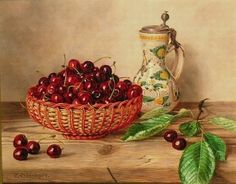 View Still life with cherries and tankard on a wood ledge by Oswald Eichinger on artnet. Browse upcoming and past auction lots by Oswald Eichinger. Be Still, Still Life, Instagram Story Ideas, Conceptual Art, Belle Epoque, Cherry, Auction, Fruit, Wood