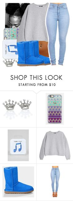 """""""Read Description"""" by missy143lol ❤ liked on Polyvore featuring Casetify, Happy Plugs, MANGO and UGG Australia"""